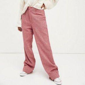 NEW Free People Selina Tweed Trousers WideLeg Pant